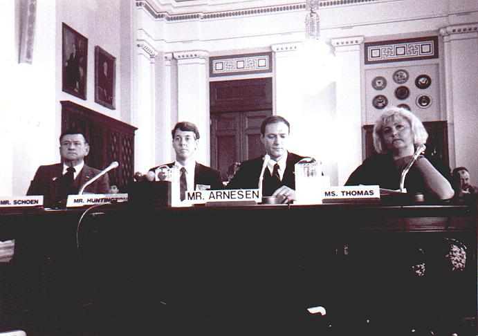 Cliff Cliff Arnesen & other LGBT Veterans Testifing Before The US Congress, via the US House Committee On Veterans Affairs: Subcommittee on Oversight and Investigations 1990