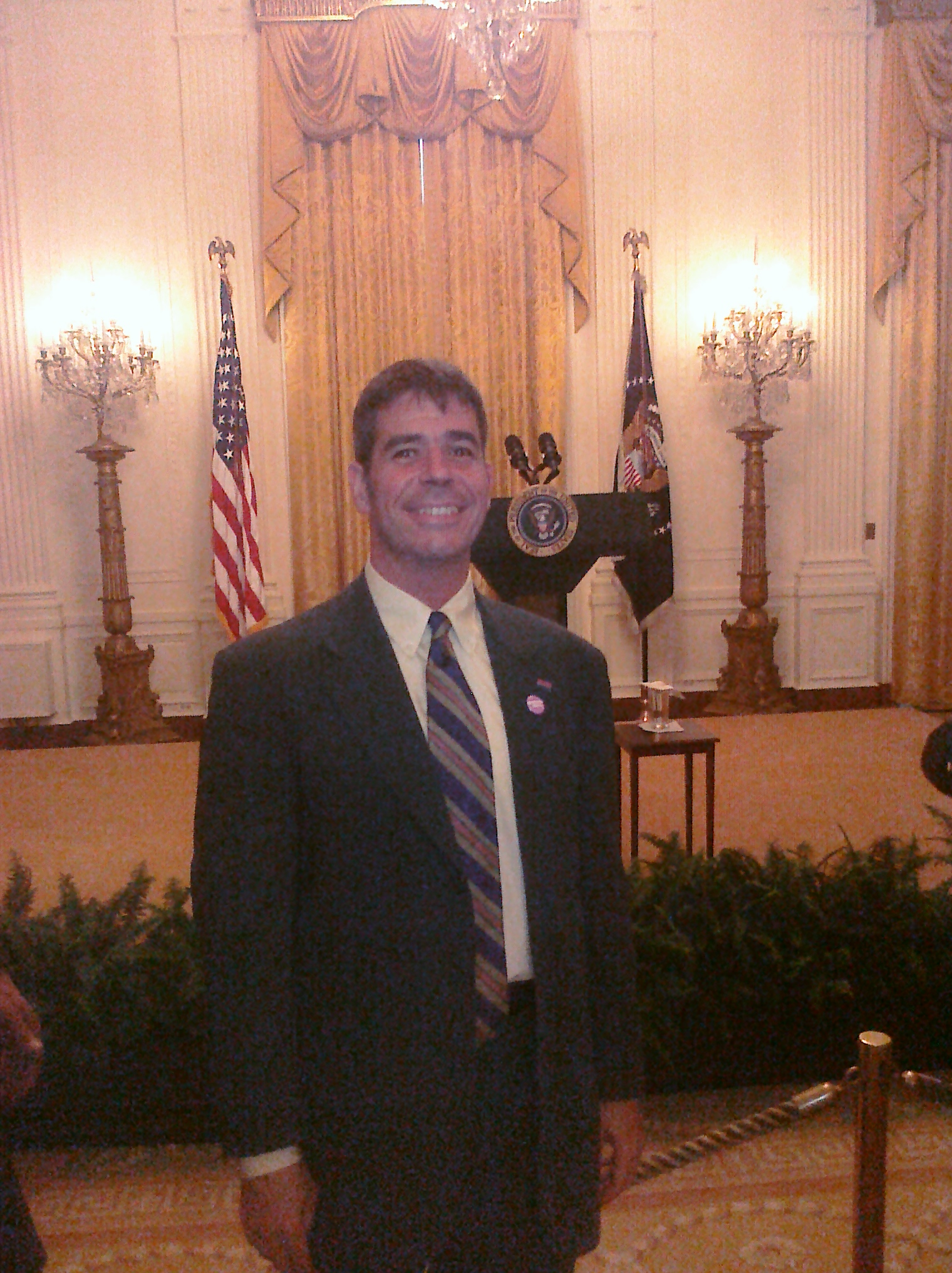 Bisexual-identified LGBTQ Activist Paul Nocera of NYC's ViRequest at the White House LGBT Pride Month Reception June 29 2011