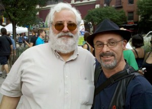 Rocco and husband bisexual author and activist Ron Suresha at the NY Pride March 29 June 2011