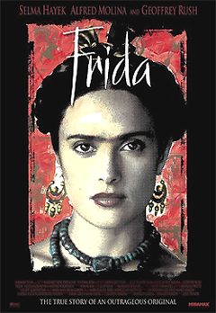 Frida is a 2002 biographical film which depicts the professional and private life of the Mexican surrealist painter Frida Kahlo. It stars Salma Hayek in her Academy Award nominated portrayal as Kahlo and Alfred Molina as her husband, Diego Rivera.