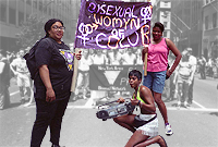 Various contingents including New York Area Bisexual Network (NYABN) & the Bisexual Womyn of Colour at the NYC LGBT Pride Parade