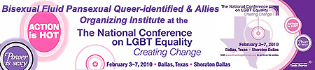 Bisexual, Fluid, Pansexual and Queer-identified Organizing Institute at Creating Change 2010 in Dallas Texas