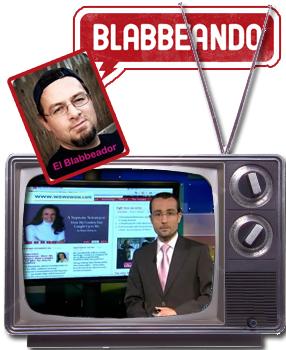 Andrés Duque aka El Blabbeador y Juan Manuel Benitez of NY1 Noticias' Pura Politica