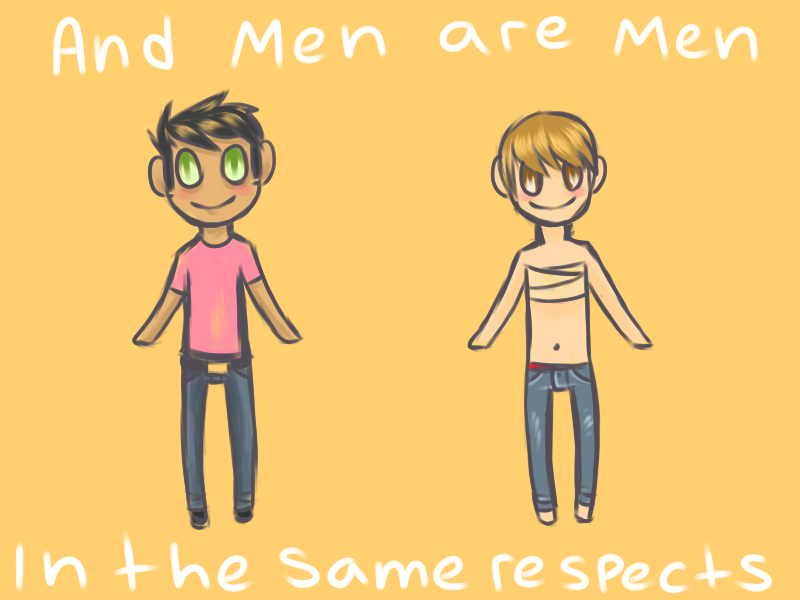 and Men are Men in the Same Respects