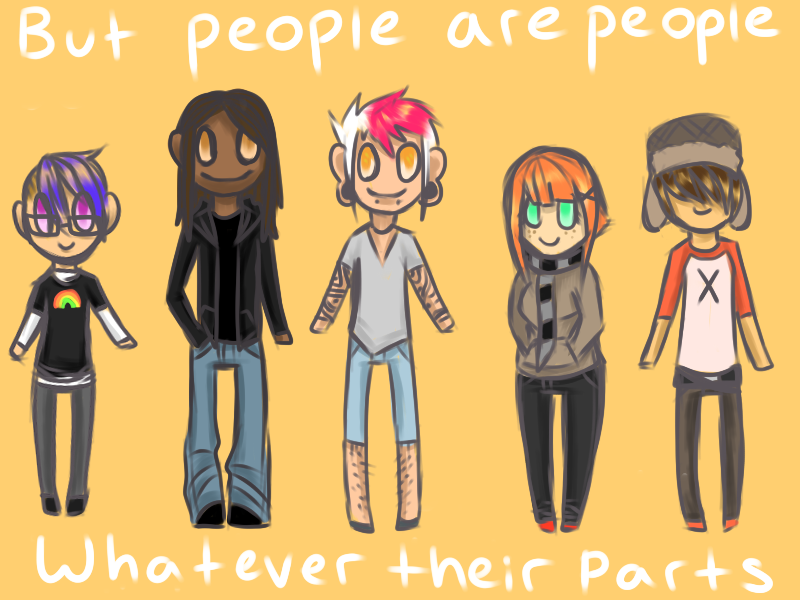 but People are People Whatever Their Parts